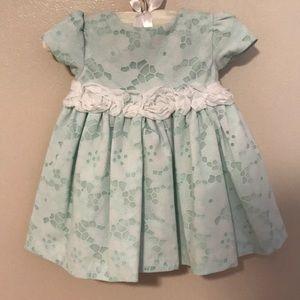 Marmellata mint green 6/9 month dress